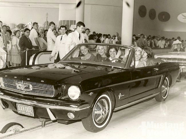 Black 1964 Magic Skyway Mustang Convertible