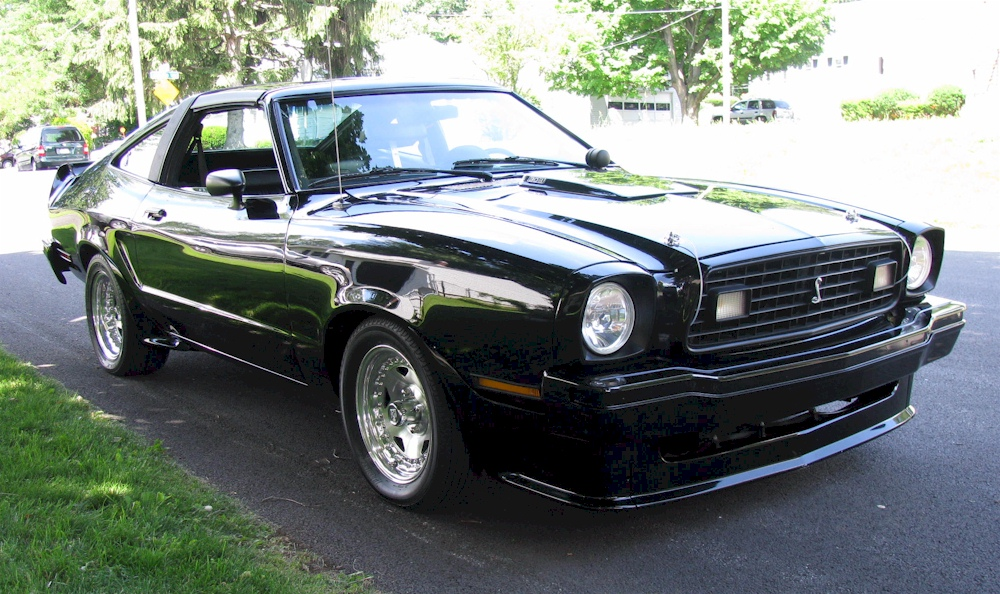 Black 78 Mustang II Cobra
