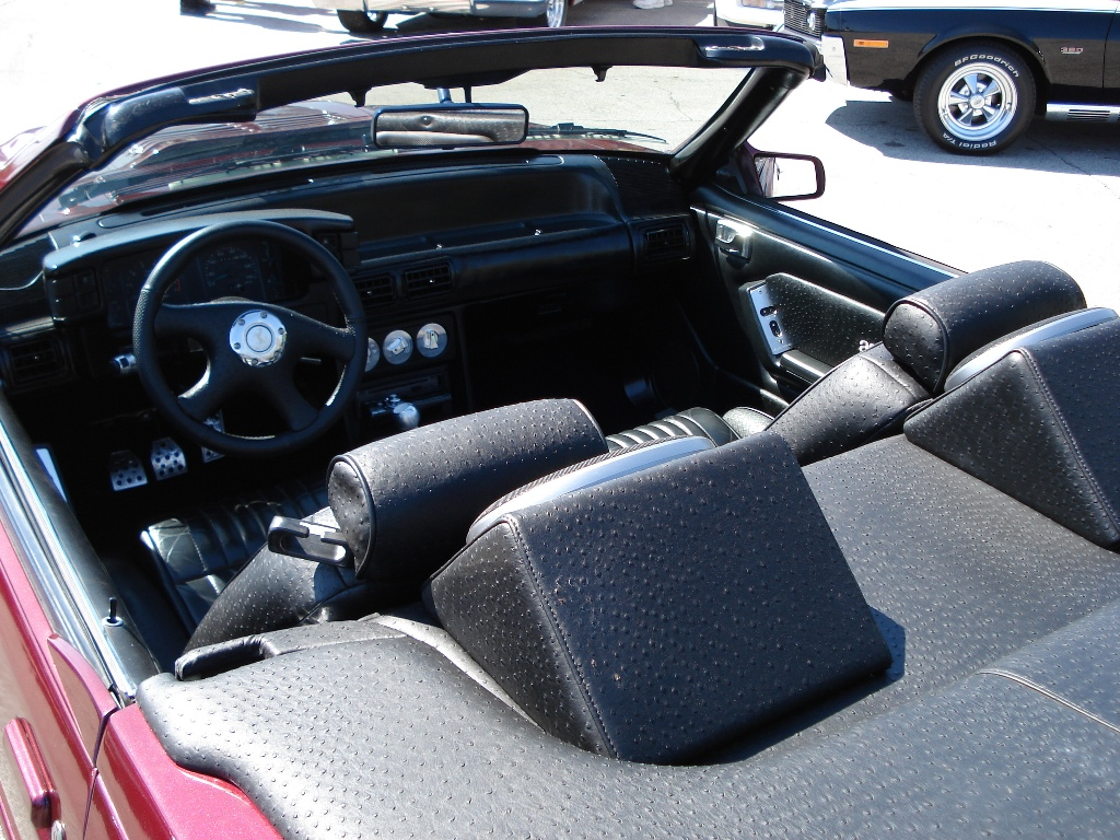Ostrish Leather 1987 Mustang ASC McLaren Convertible