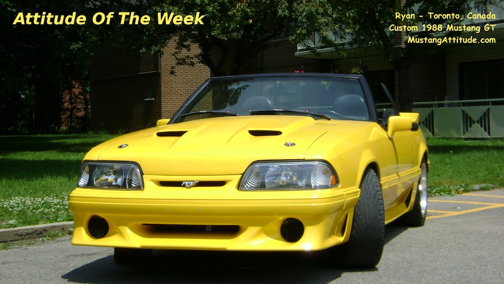 Custom Yellow 1988 Mustang GT convertible
