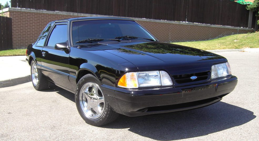Black 1993 Mustang Coupe