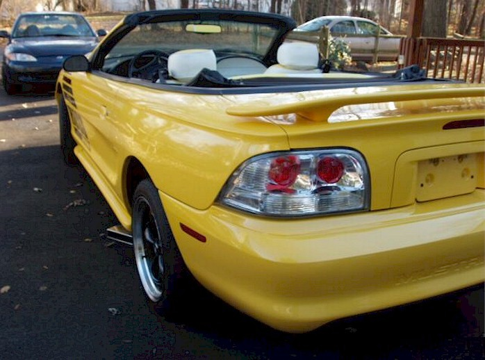 Canary Yellow 1994 Modified Mustang GT Convertible