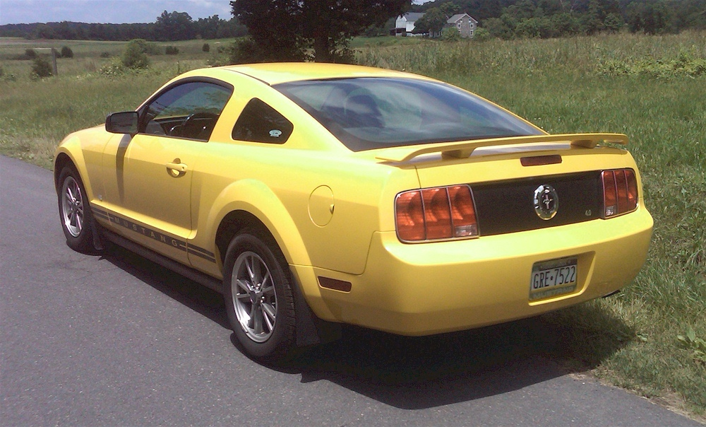 Screaming Yellow 2005 Mustang