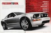 inside front cover of the 2005 Mustang sales catalog