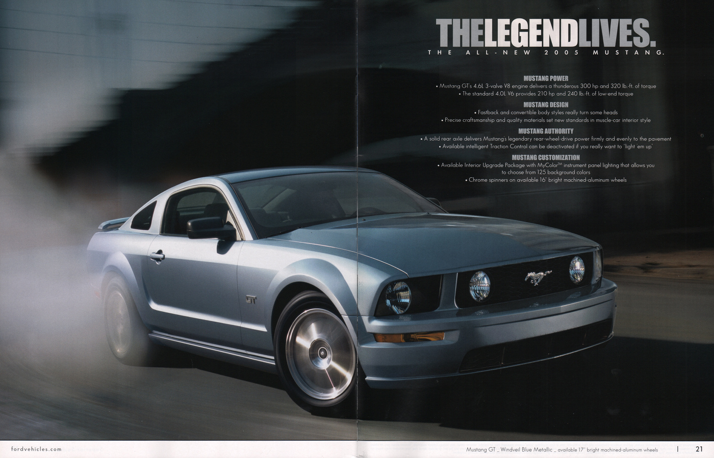 Windveil Blue 2005 Mustang GT coupe