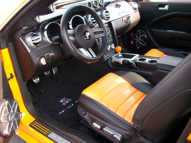 Custom Grabber Orange and Black leather seats and Roush upgrades