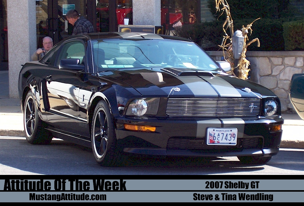 Black 2007 Shelby GT coupe