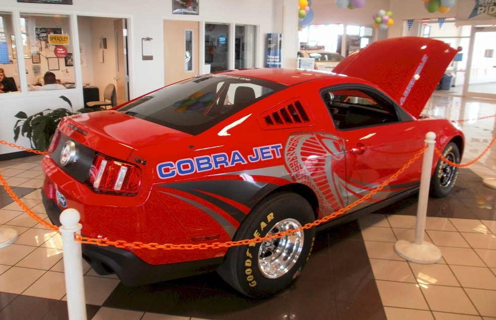 Red 2012 Cobra Jet Race Car