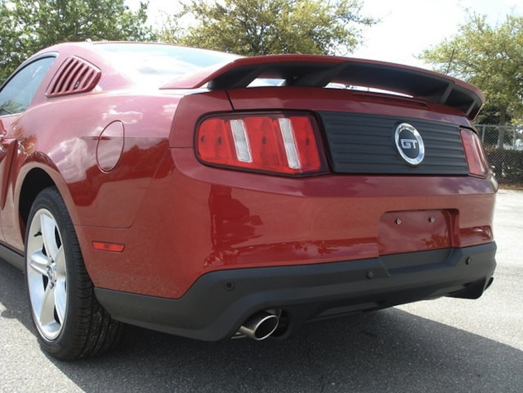 Rear View 2012 Mustang GT coupe