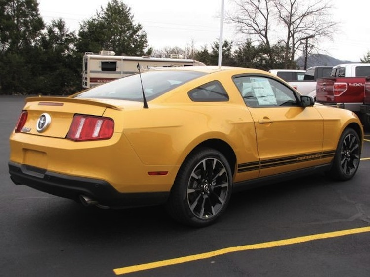 Yellow Blaze 2012 Mustang Coupe